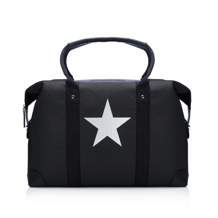 The Weekender - Black with a Metallic Silver Star