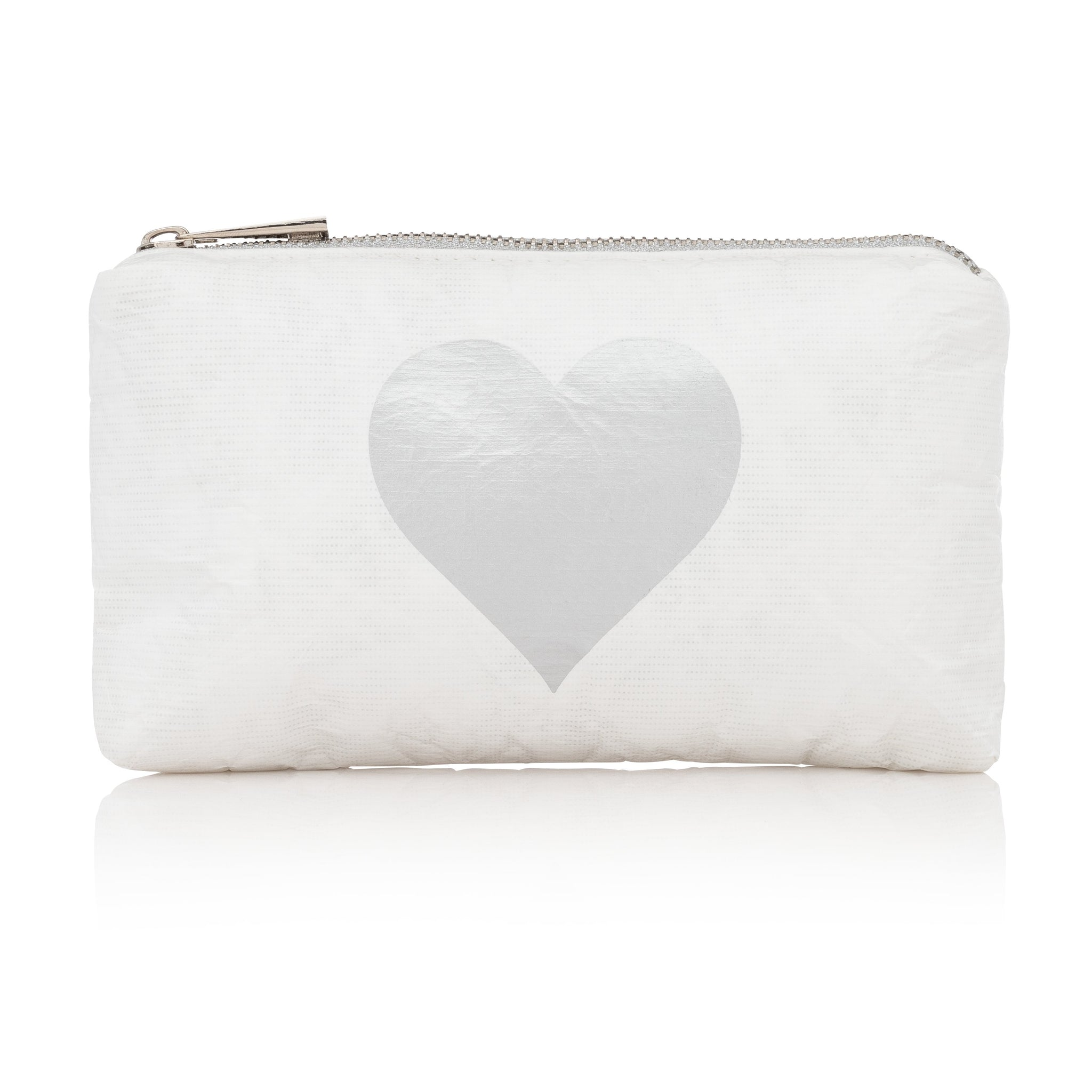 Mini Padded Pack - White with Metallic Silver Heart