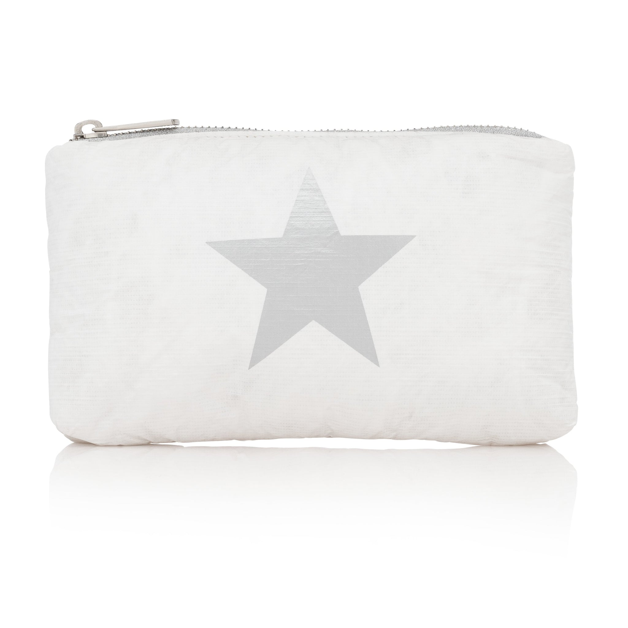 Mini Padded Pack - White with Metallic Silver Star