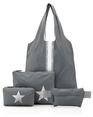 Travel Bag Set Hi Love Get Organized and Go Tote Set Cool Gray