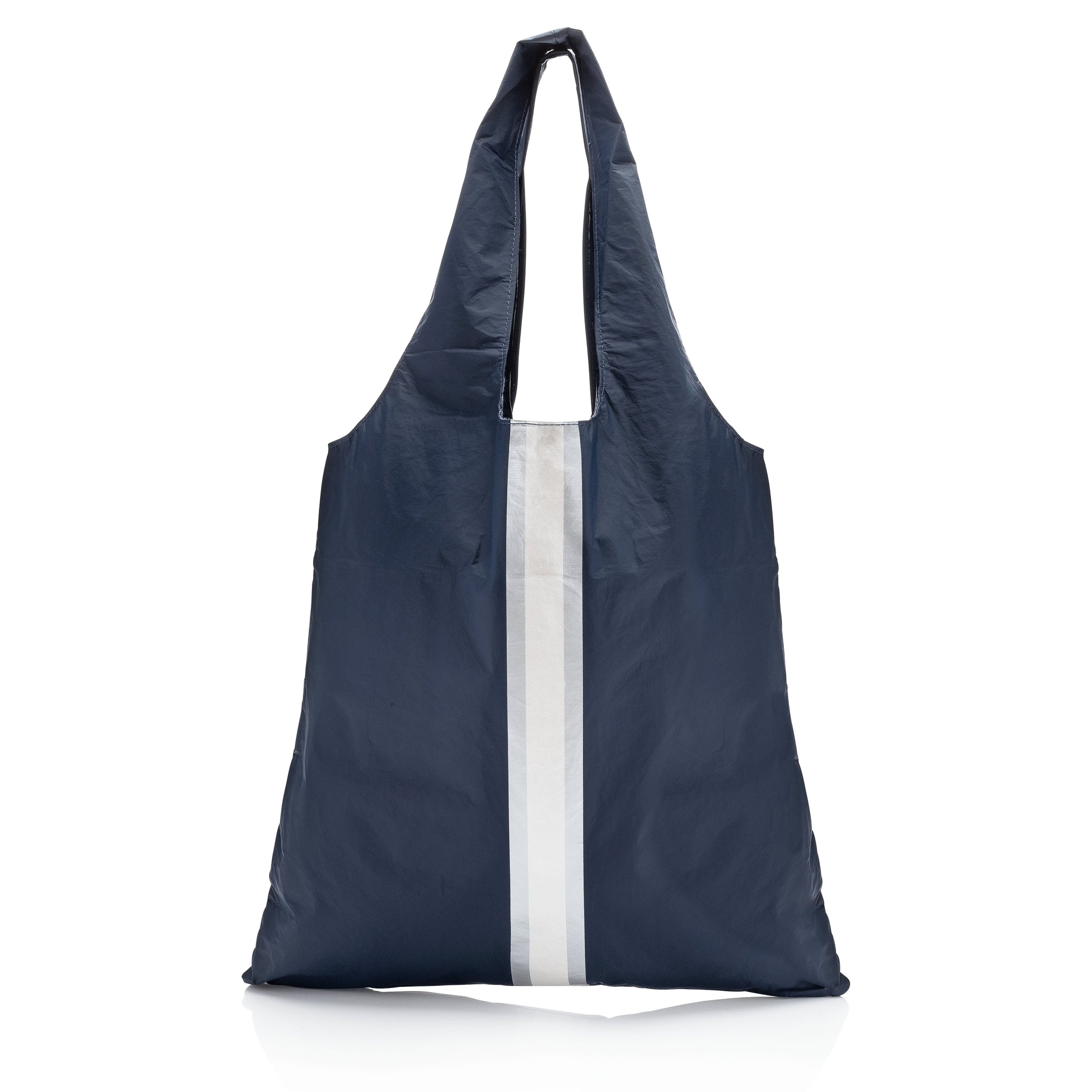 Carryall Tote - Navy HLT Collection with a Double Metallic Line