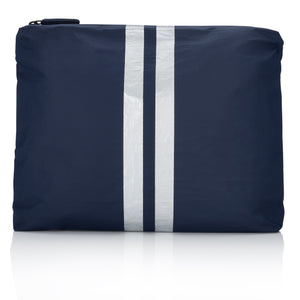 Travel Pack- Medium Pack - Navy HLT Collection with Metallic Silver Stripes