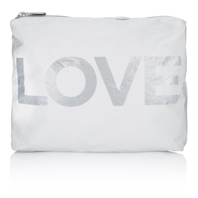 Medium Pack - White with Metallic Silver LOVE