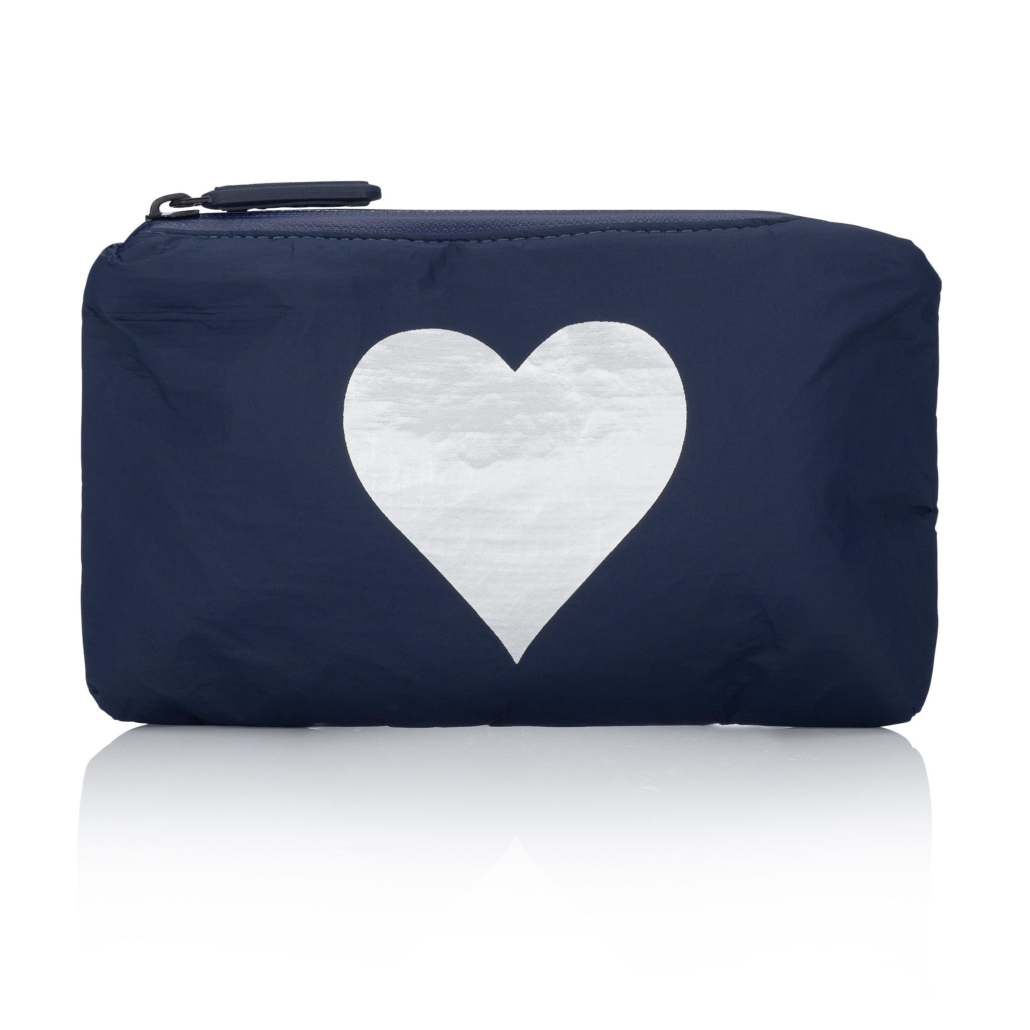 Mini Padded Pack - Navy with Silver Heart