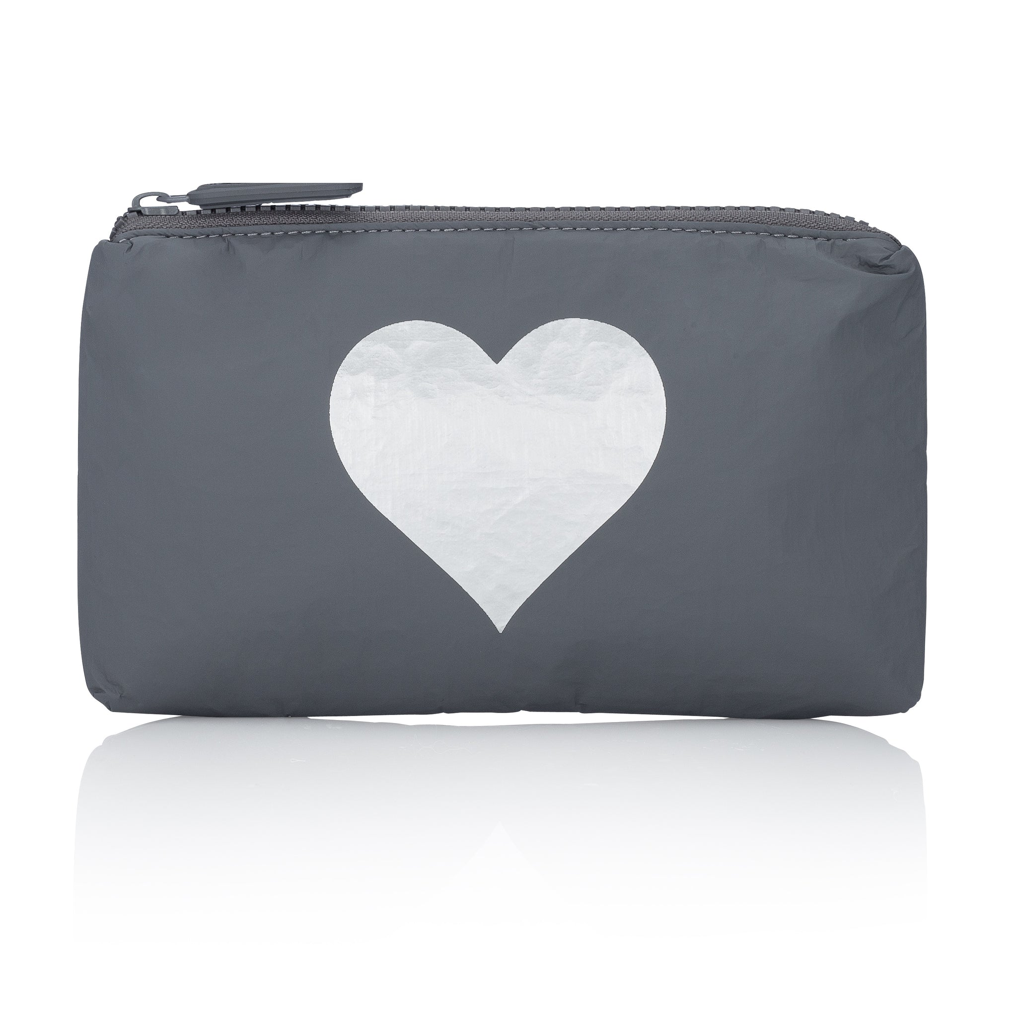 Mini Padded Pack - Cool Gray with Silver Heart
