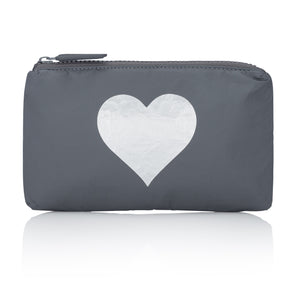 Mini Padded Pack - Cool Gray HLT Collection with Metallic Silver Heart