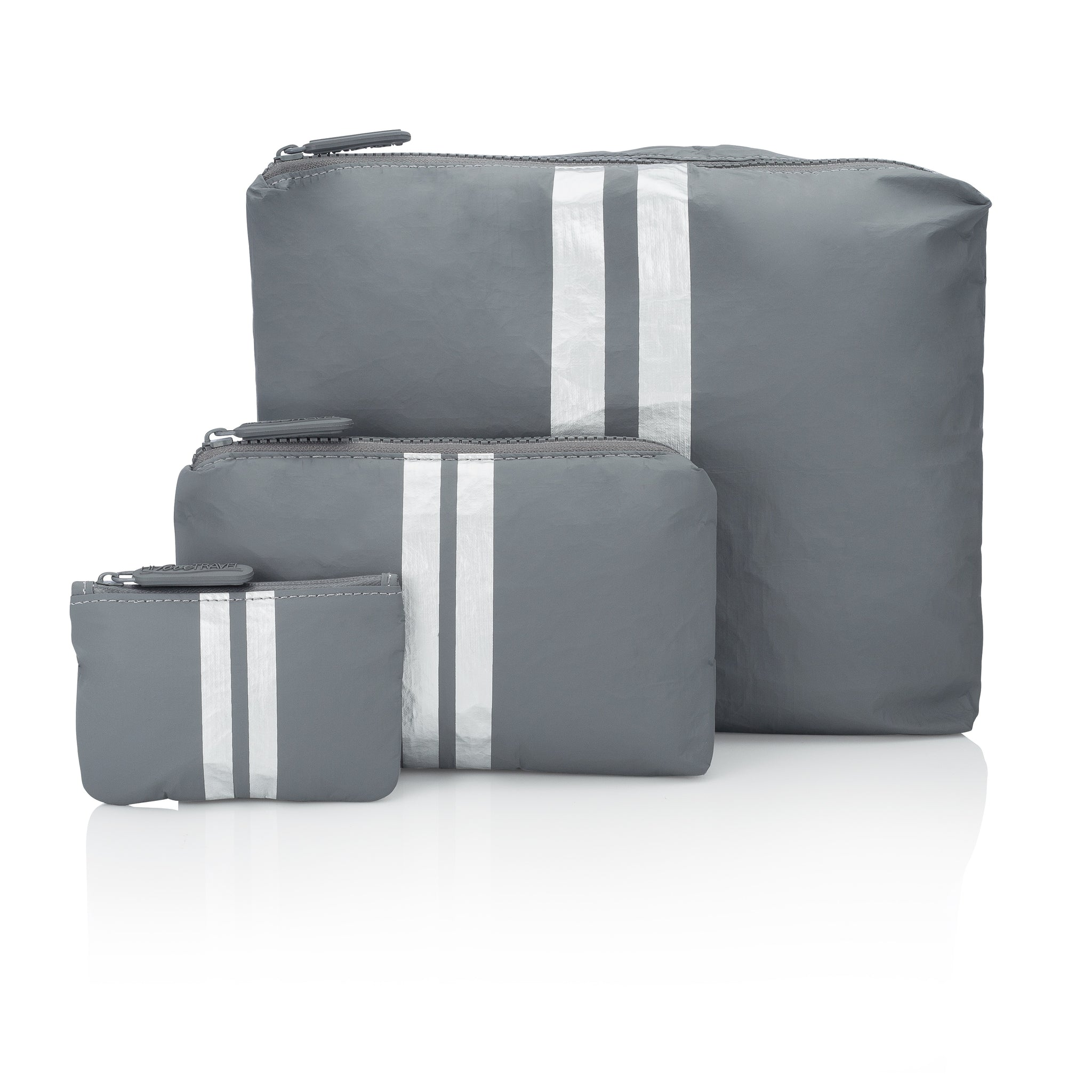 Set of Three Packs - Cool Gray HLT Collection with Metallic Silver Stripes