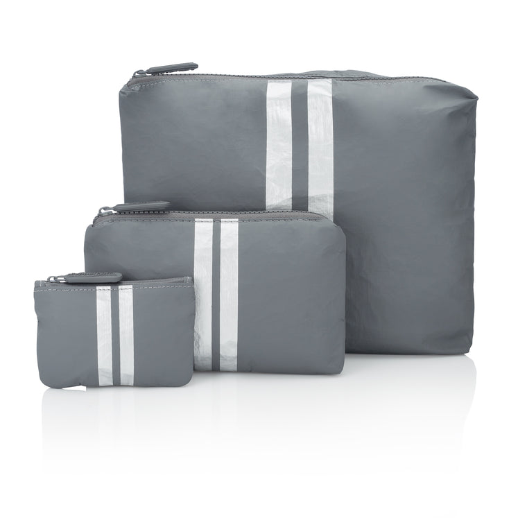 Set of Three Packs - Cool Gray HLT Collection with Metallic Silver Lines