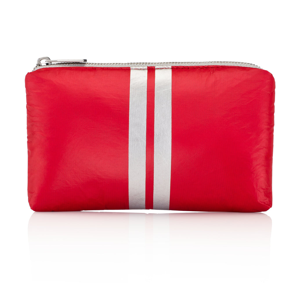 Mini Padded Pack - Chili Pepper Red with Metallic Silver Lines