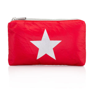 Mini Padded Pack - Chili Pepper Red with Metallic Silver Star