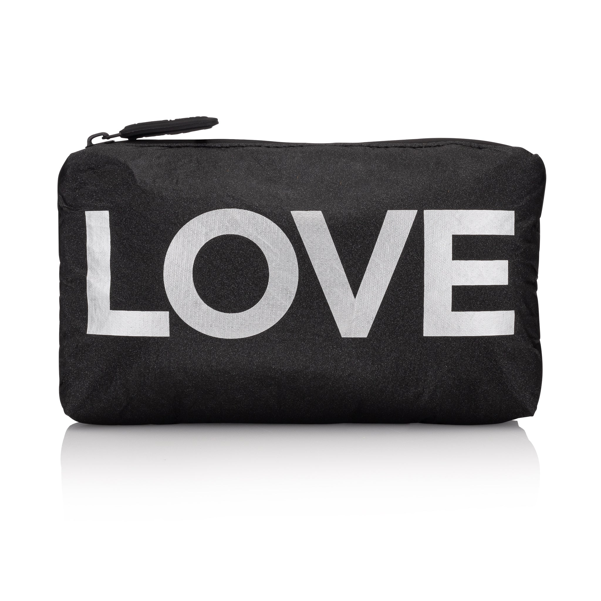 "Mini Padded Pack - Black Shimmer HLT Collection with Metallic Silver ""LOVE"""