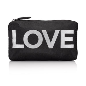"Mini Padded Pack - Black with Silver ""LOVE"""