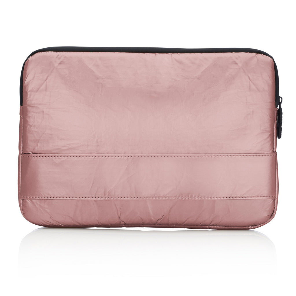 Compact Computer & Tablet Case- Metallic Rose Gold
