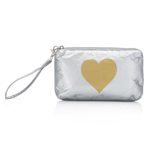Wristlet - Silver with Gold Heart