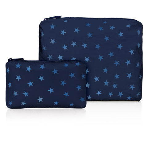 Set of Two Packs - Shimmer Navy with Tone on Tone Stars