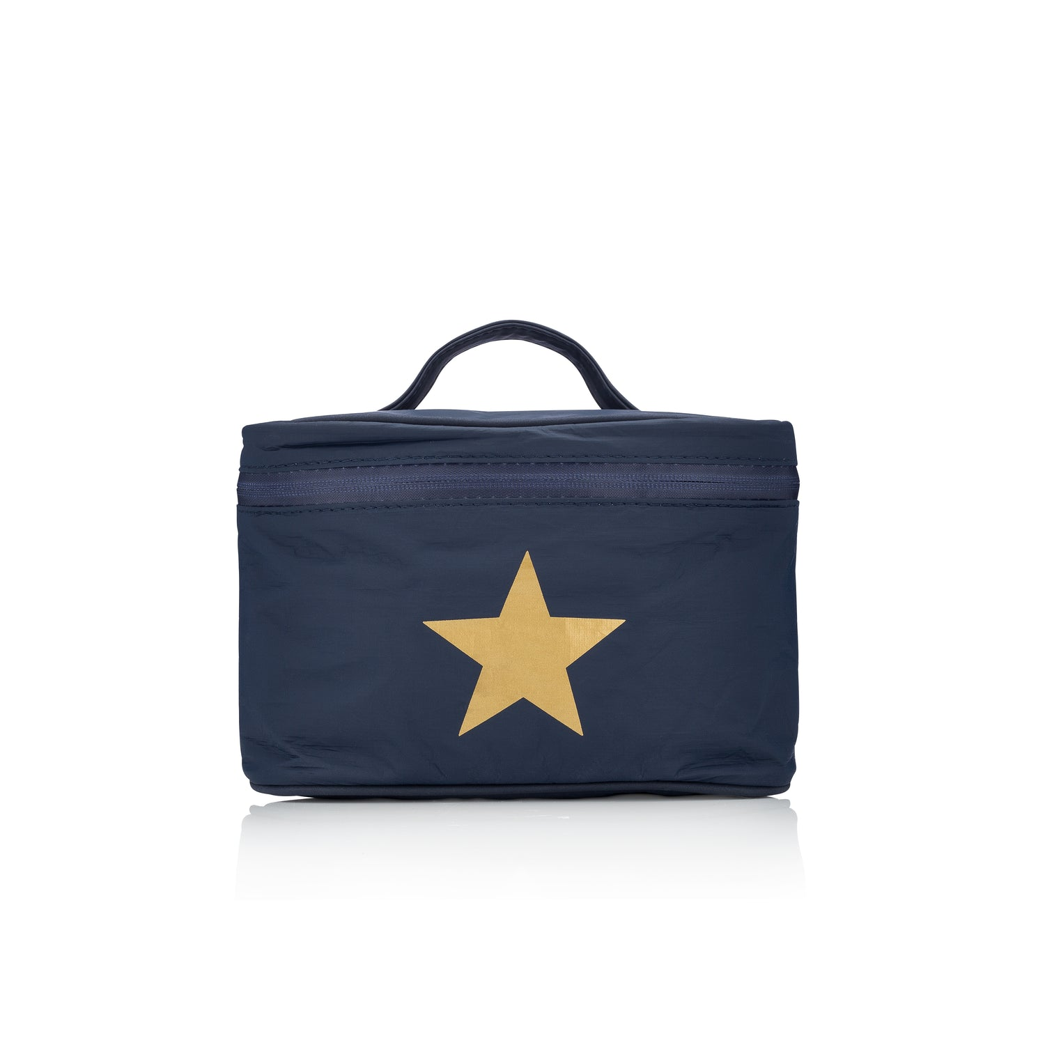 Makeup Carrier - Navy with a Metallic Gold Star