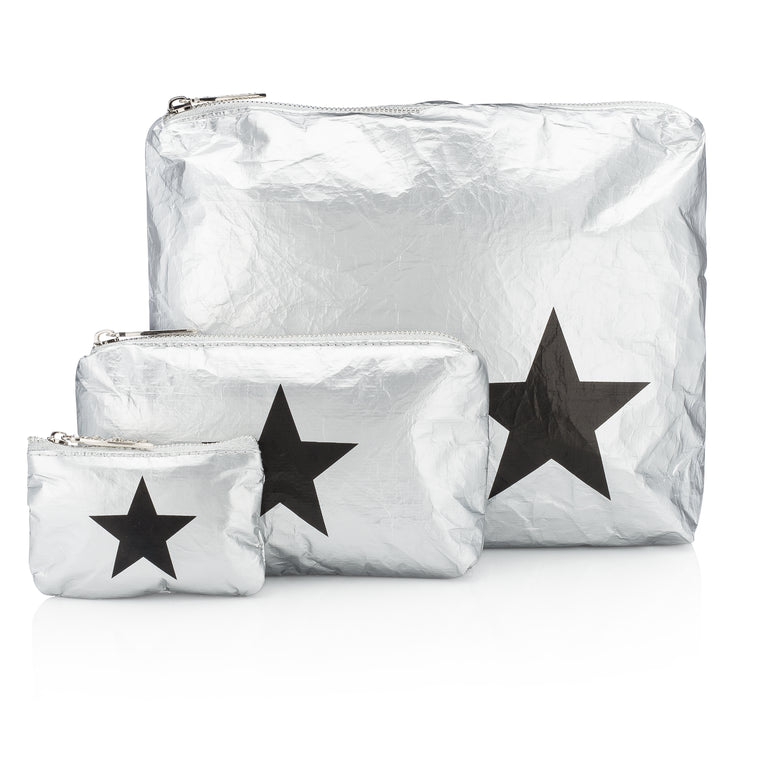 Set of Three Packs - Metallic Silver Collection with a Black Star
