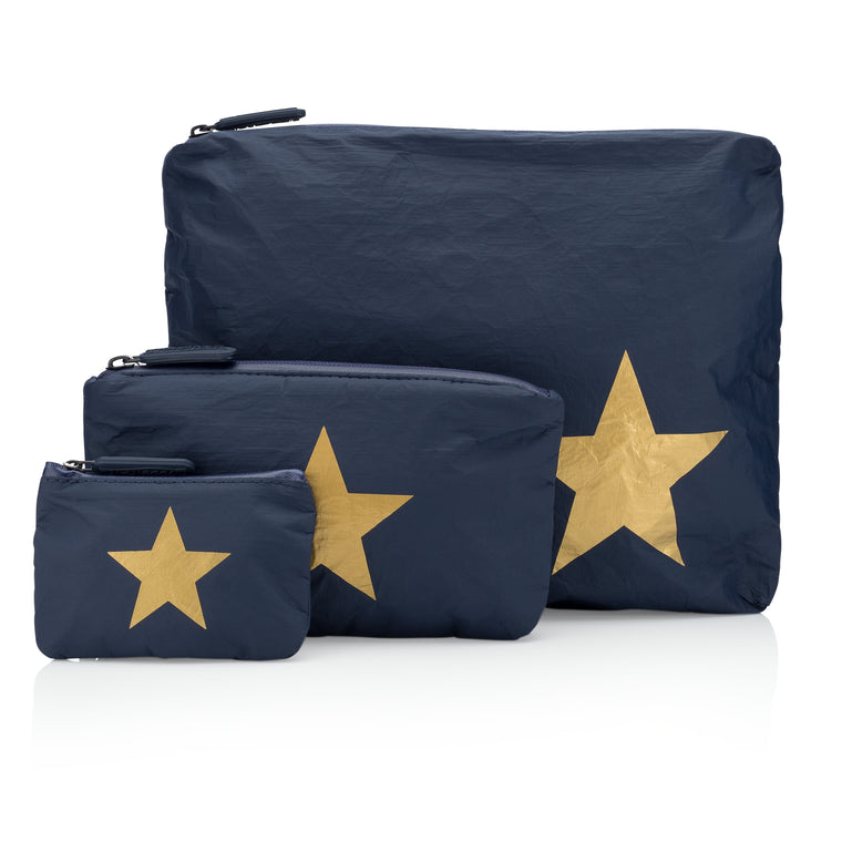 Set of Three Packs - Navy HLT Collection with a Metallic Gold Star
