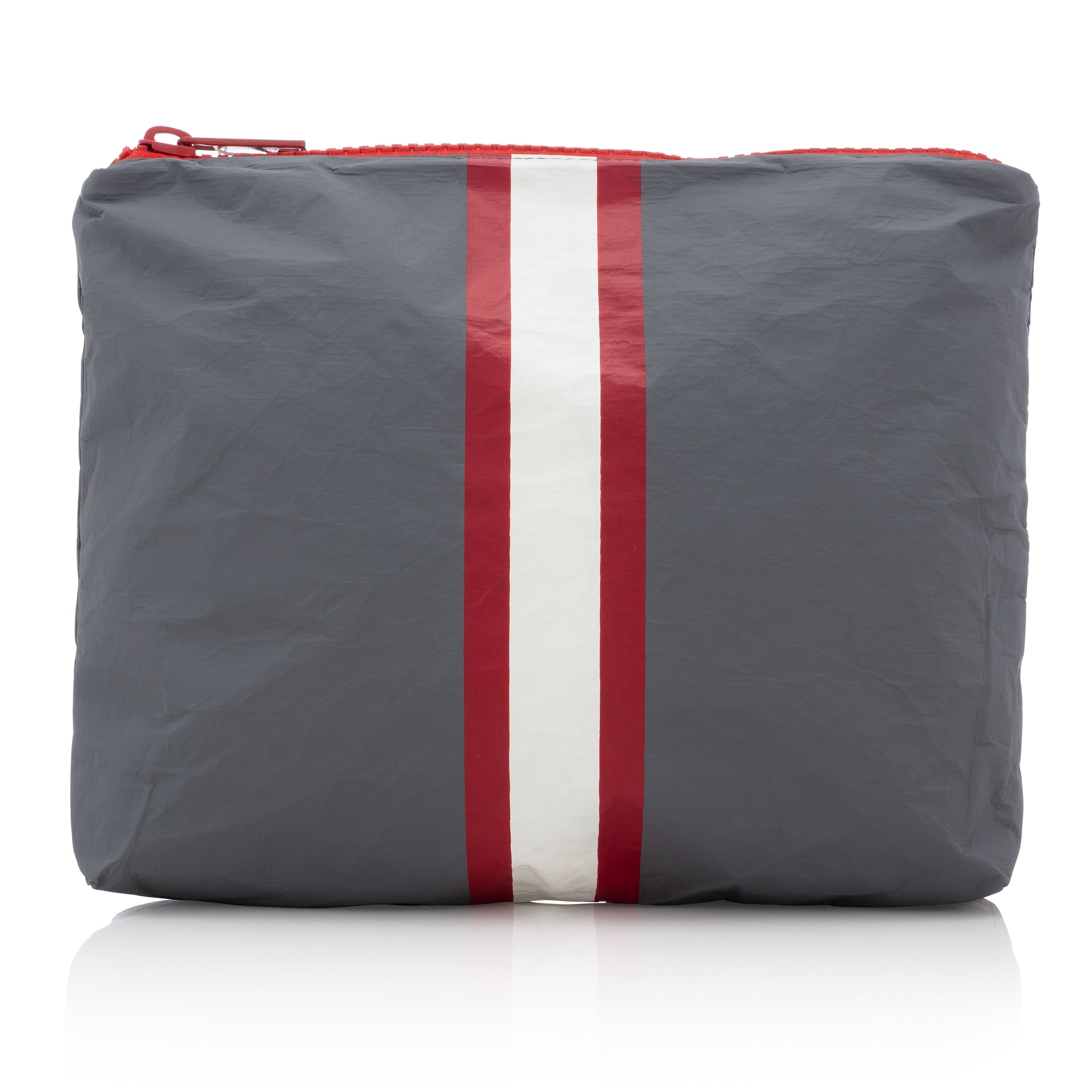 Travel Pack - Makeup Pouch - Medium Pack - Casa Tua Collection with Red and Cream Stripes