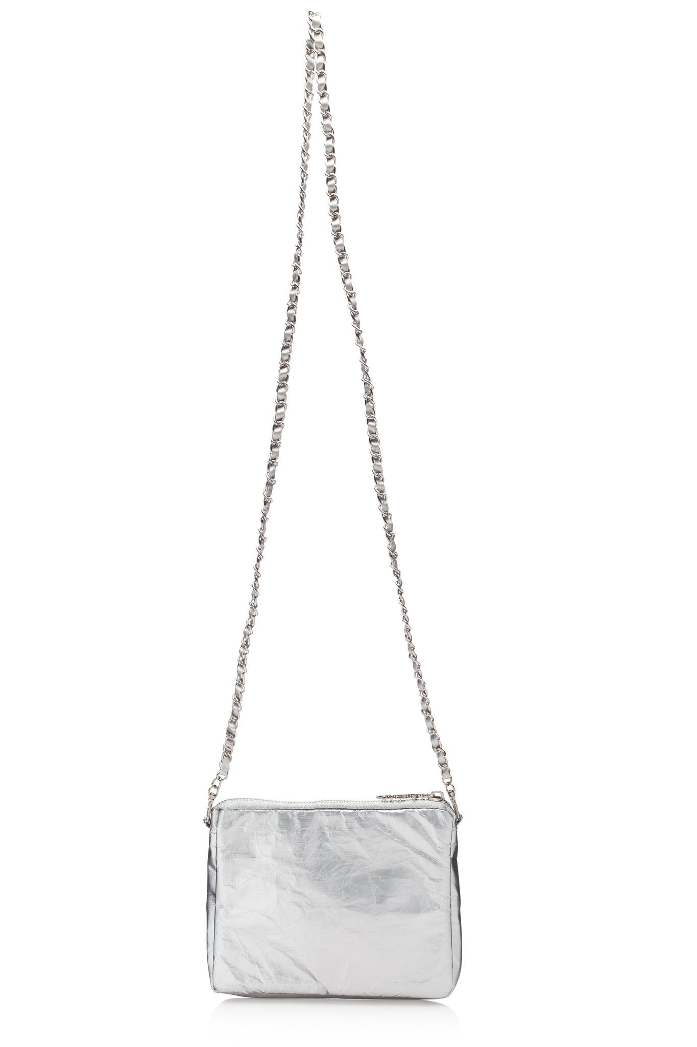 Chain Purse Collection - Metallic Silver