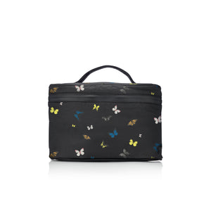 Cosmetic Case - Lunch Box - Butterflies in Flight on Black