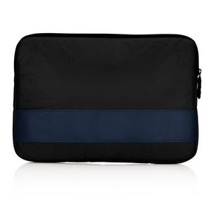 One of a Kind! Compact Attache- Black with Navy Strap