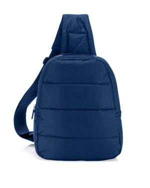 Crossbody Fashion - Travel Backpack - Gym Bag - Puffer Crossbody Backpack - Navy