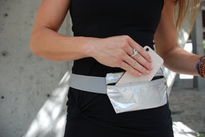 Fanny Packs - Lightweight - Cute Silver Fanny Pack