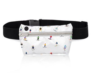 Skier Fanny Pack - Ski Pack - Winter Travel Bag - Hi Love Fanny Pack - Dancing Skiers
