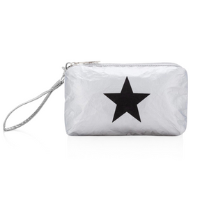 Wristlet - Silver with Black Star