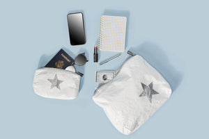 Mini Padded Pack - White with Silver Star