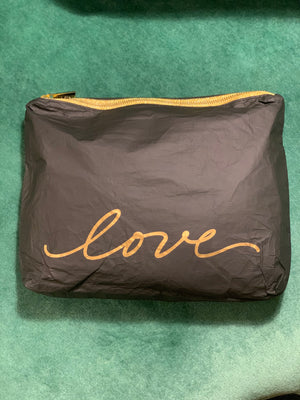 "Set of Two Packs - Black with Gold Script ""Love"""