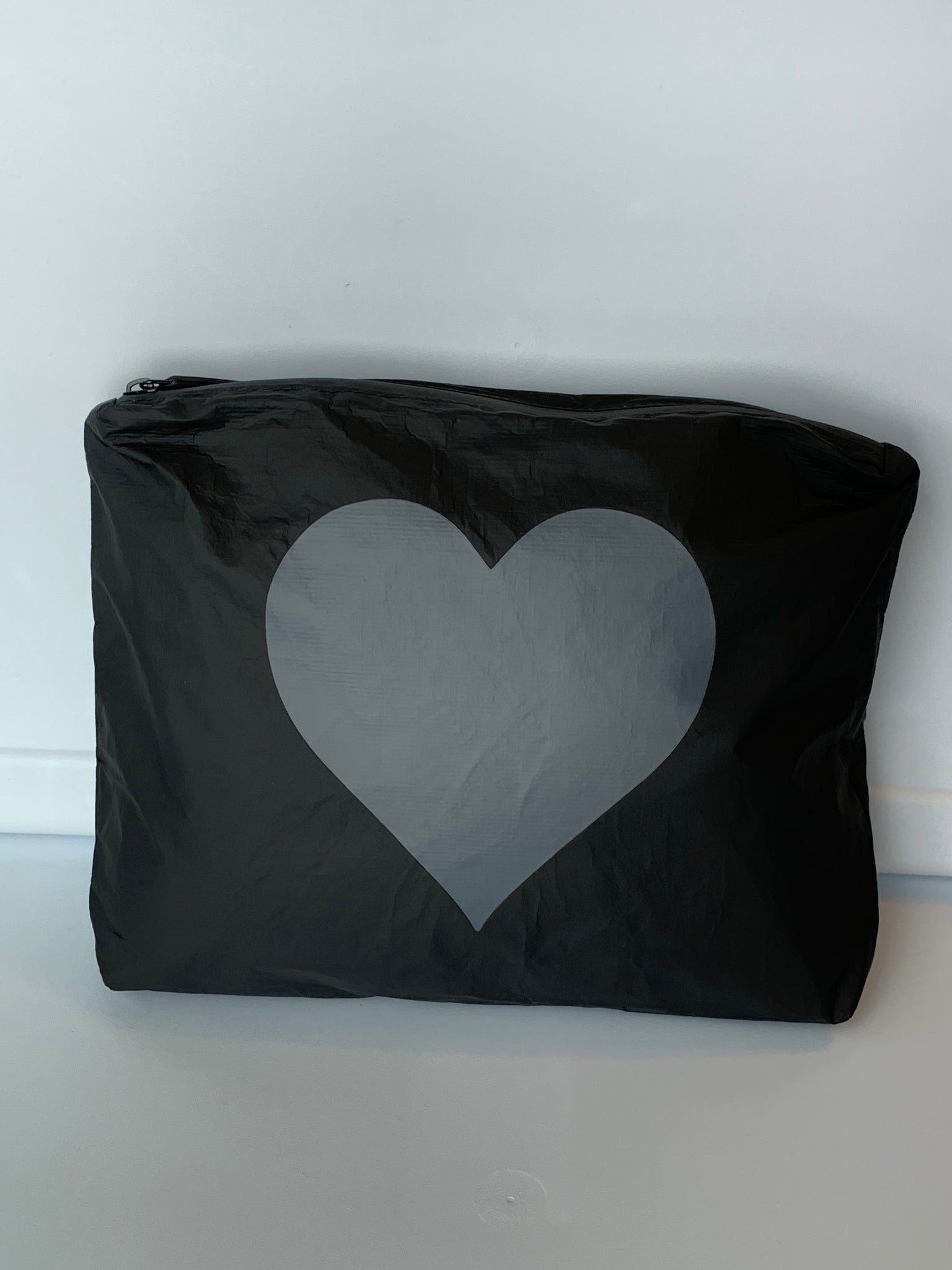 One of a Kind! Medium- Black with Tone on Tone Heart