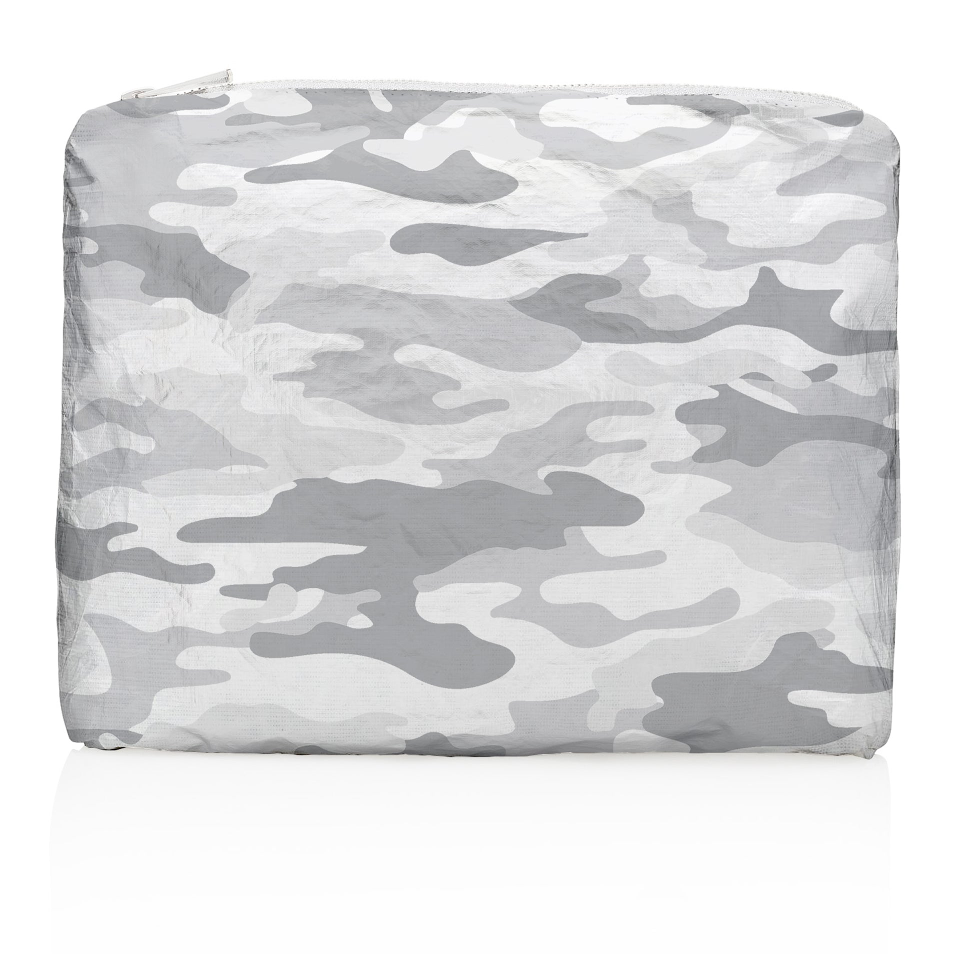 Camo Travel Bag - Camo Makeup Bag - Medium Pack - Metallic Silver Camo