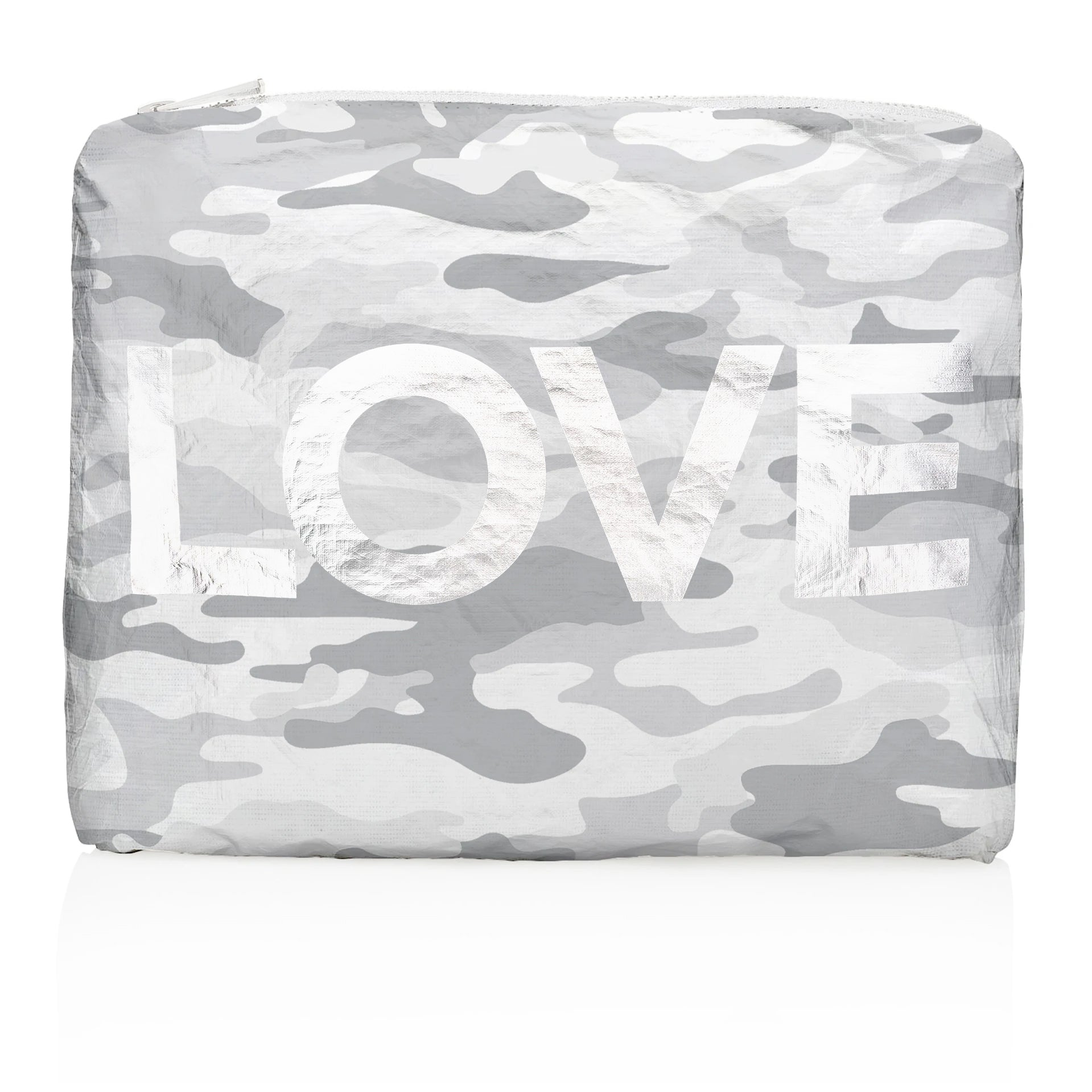 "Medium Pack - Metallic Silver Camo with Silver ""LOVE"""