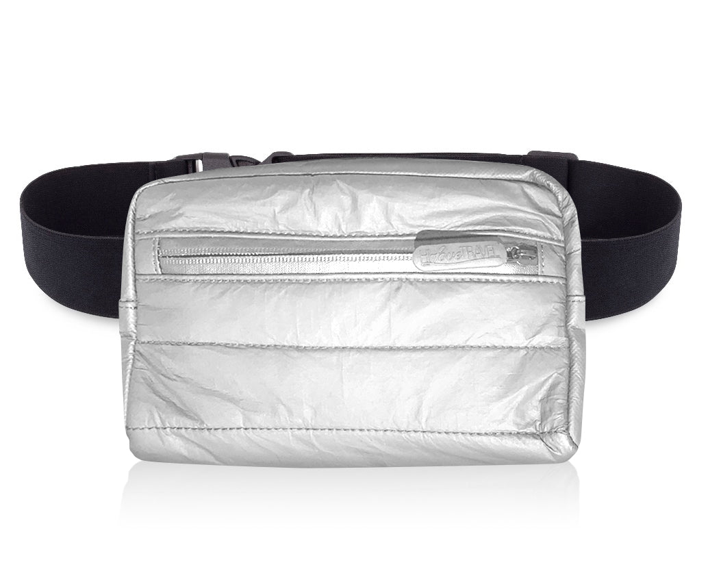 Puffer Fanny Pack - Silver