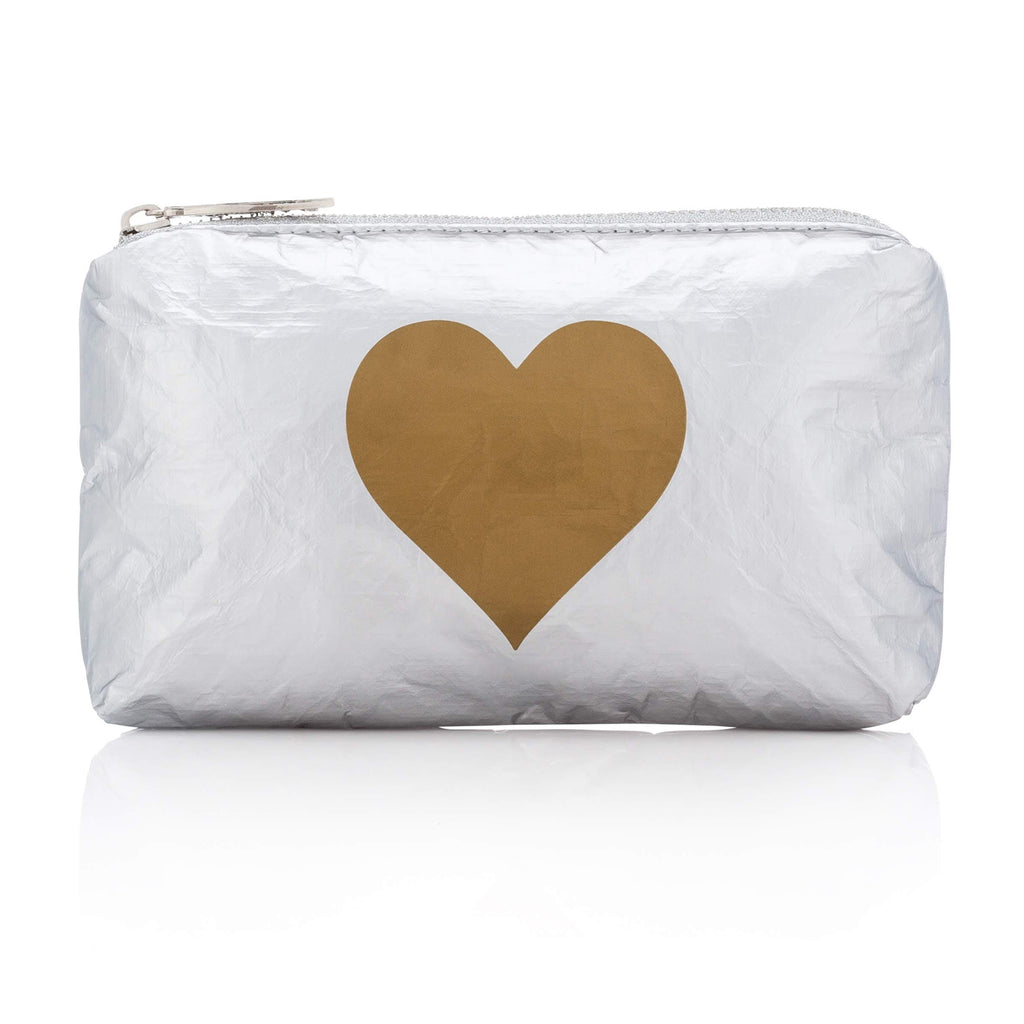 Mini Padded Pack - Metallic Silver Collection with Gold Heart