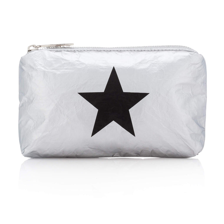 Mini Padded Pack - Metallic Silver Collection with Black Star