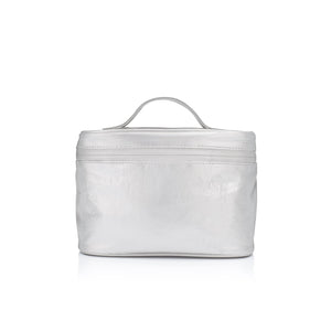 Cosmetic Case - Lunch Box - Metallic Silver