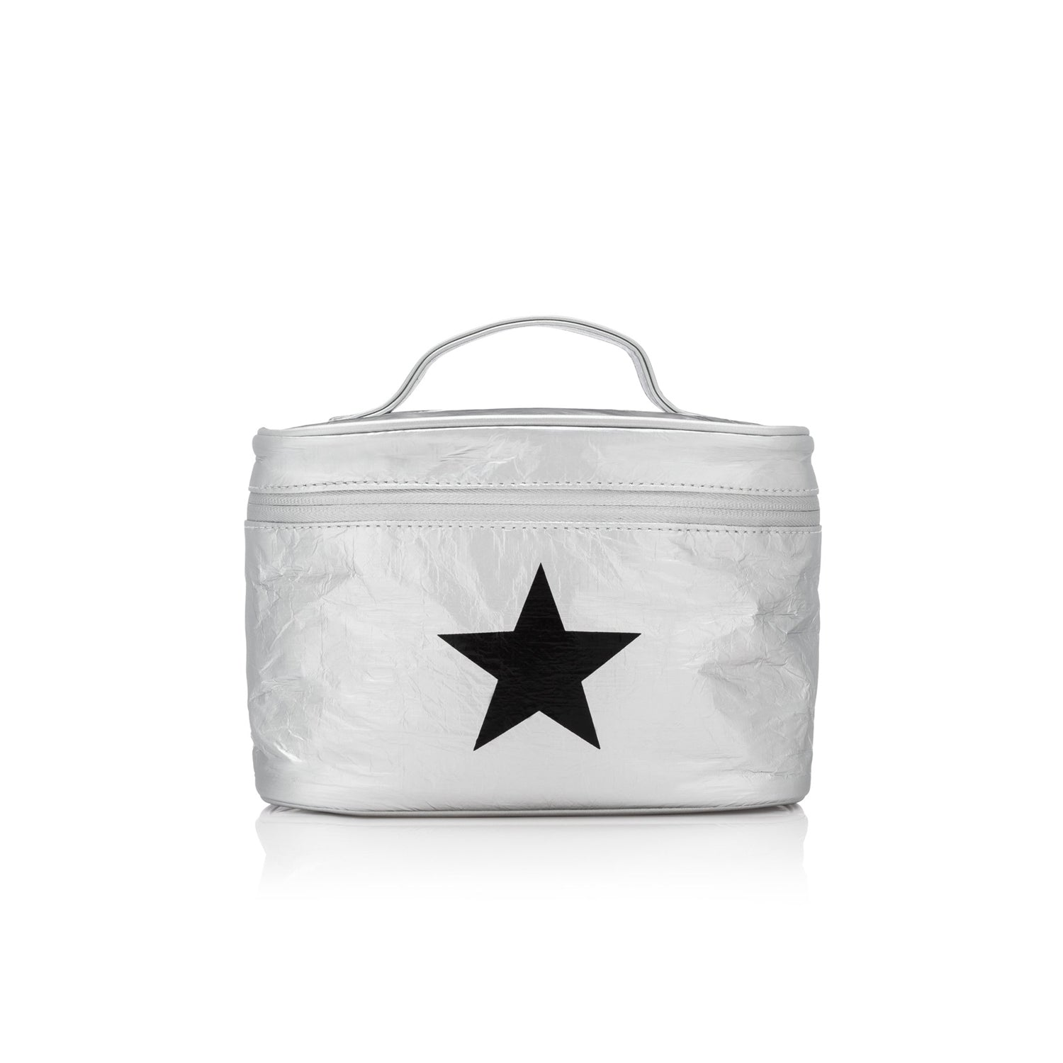 Cosmetic Case - Lunch Box - Silver with Black Star