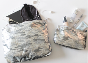 Set of Two - Metallic Silver Camo