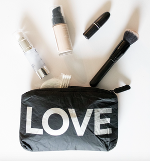 "Mini Padded Pack - Black with Metallic Silver ""LOVE"""