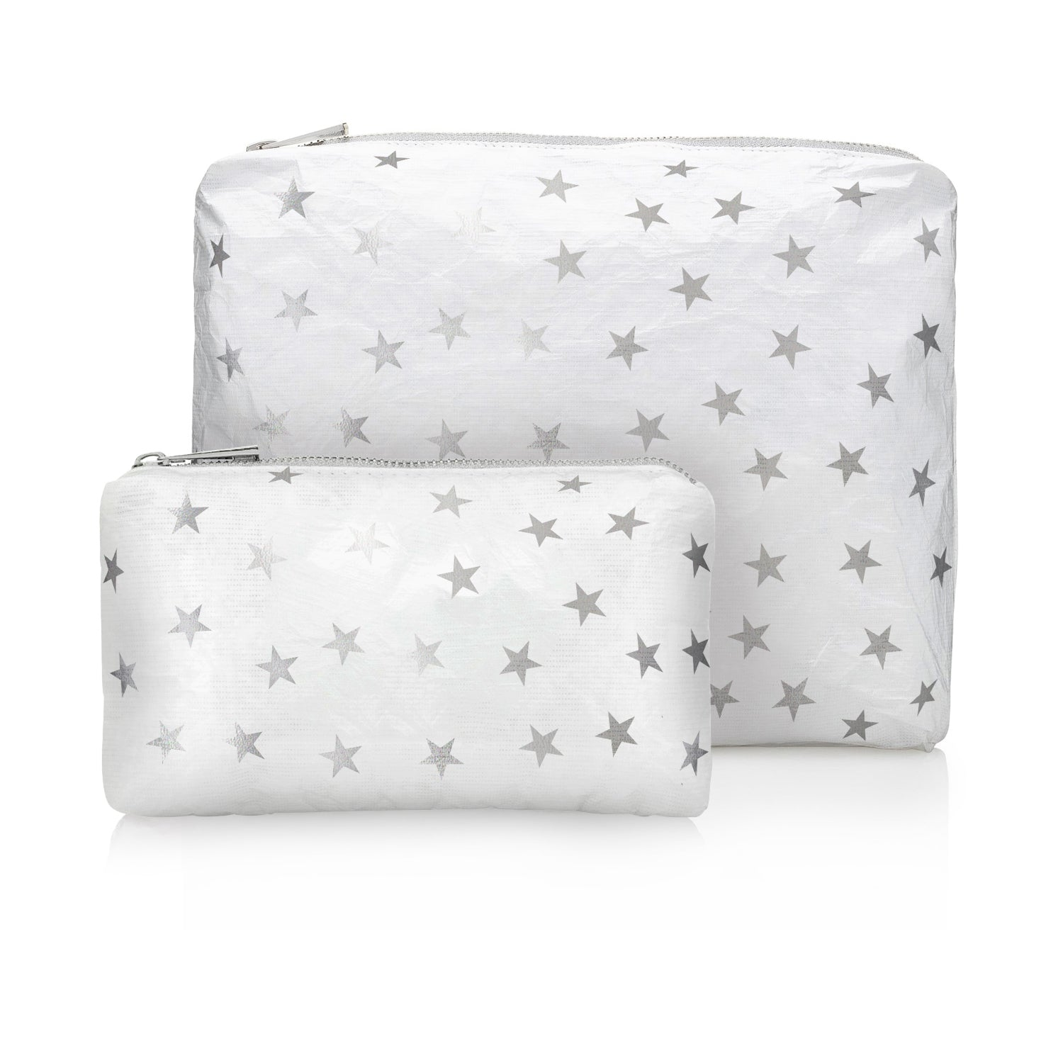 Set of Two - Shimmer White with Myriad Silver Stars