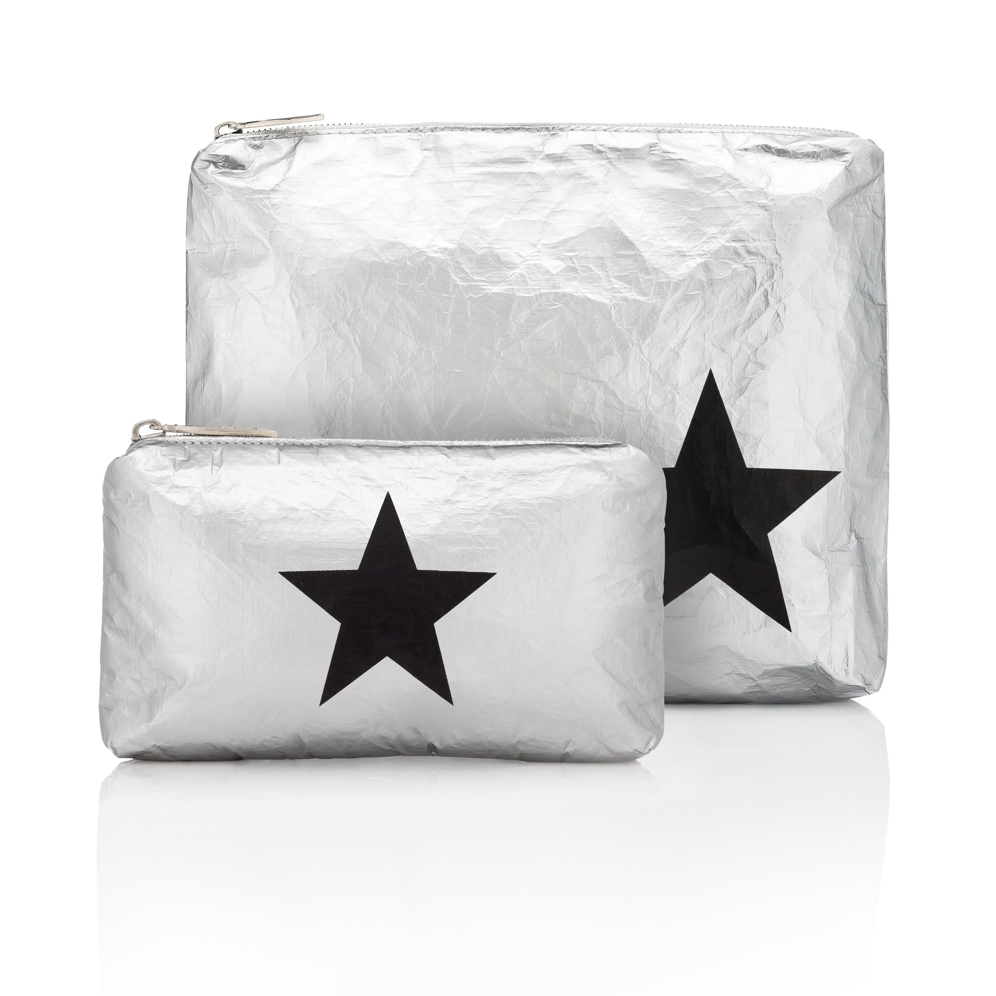 Set of Two - Silver with Black Star