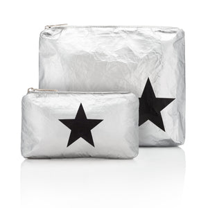 Set of Two Packs - Silver with Black Star