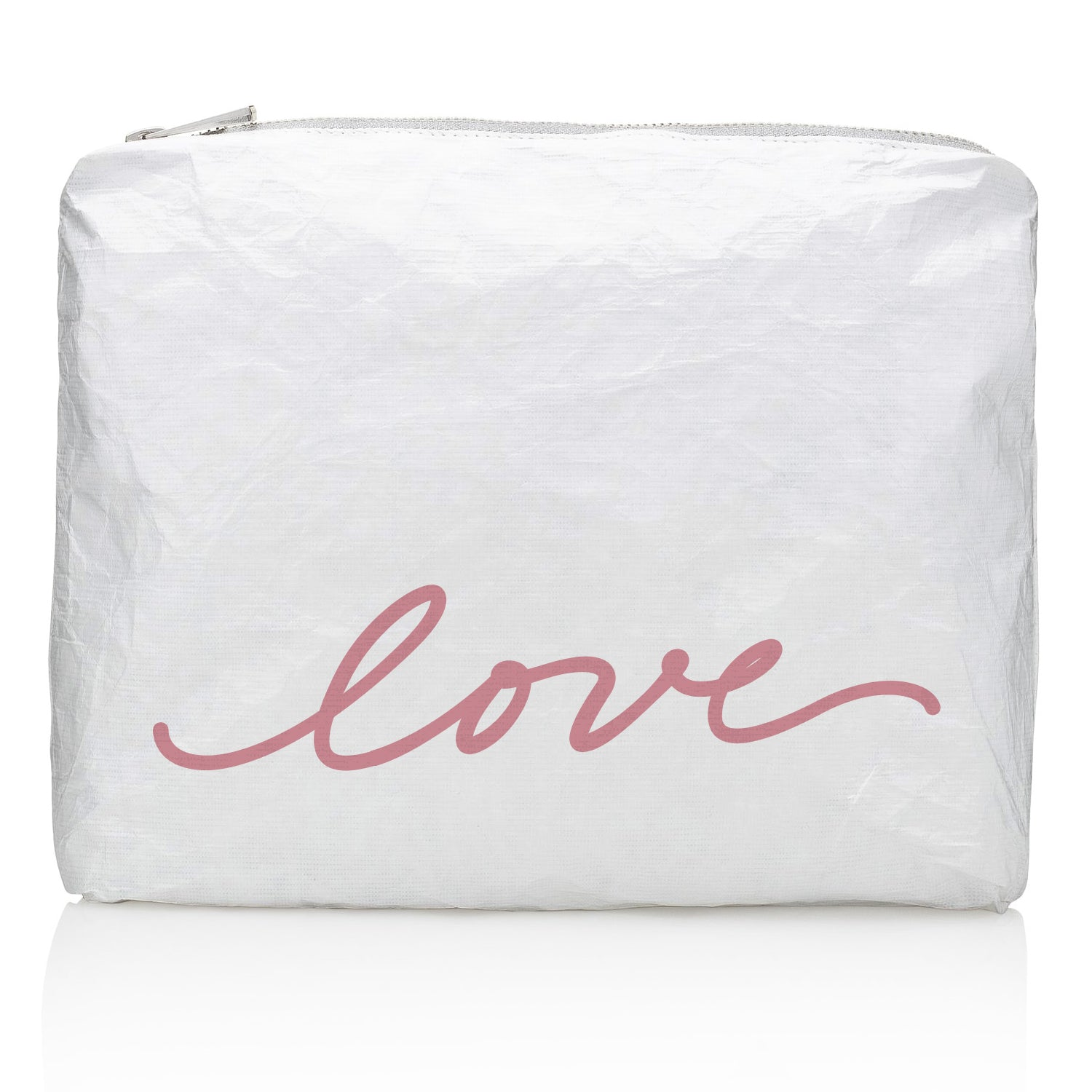 "Medium Pack - Shimmer White with Pink Script ""love"""