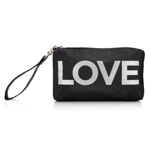 "Wristlet - Black with Silver ""LOVE"""