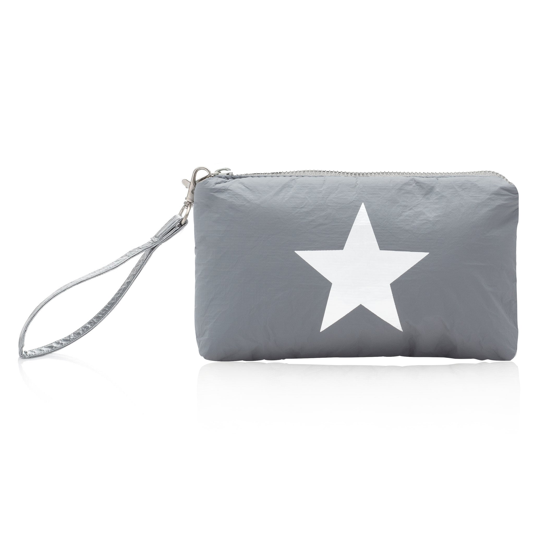 Wristlet - Cool Gray with Silver Star