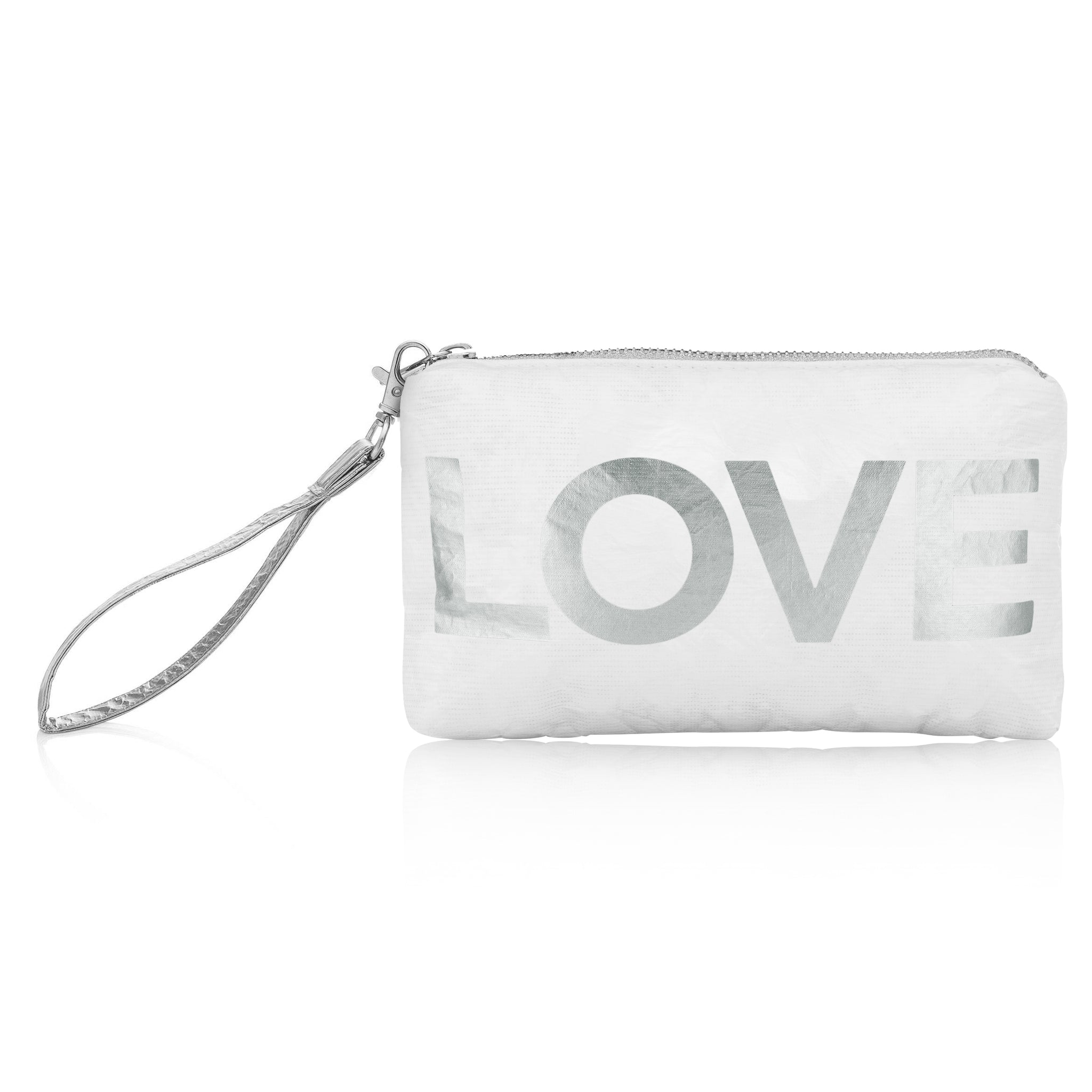 "Wristlet - White with Silver ""LOVE"""