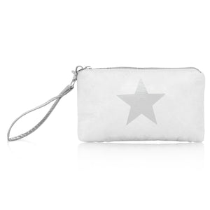 Wristlet - White with Silver Star